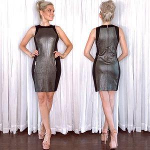 Michael Kors Dresses - Michael Kors Black Metallic Silver Mini Dress